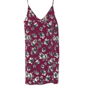 Maitai floral slip dress in pink red size small